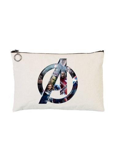 Art T-Shirt Art Tshirt Artrnd02333 Avengers Astarlı 30 X 21 Cm Bez Tablet Ve Makyaj Çantası Renkli Renkli